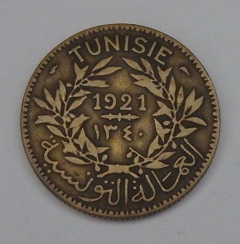 Tunisia - 2 Francs - 1921