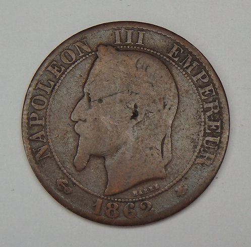 France - 5 Centimes - 1862-A