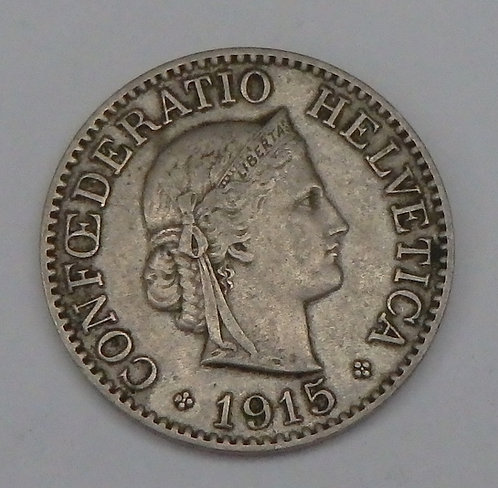 Switzerland - 10 Rappen - 1915-B