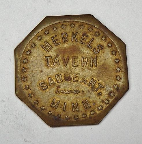 Minnesota, Sargeant - Merkels Tavern Token
