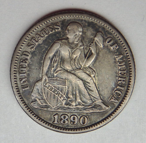 1890-S Seated Liberty Dime