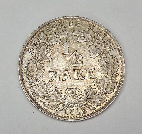 Germany - 1/2 Mark - 1912-D