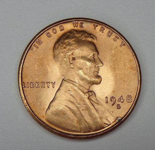 1948-S Wheat Cent