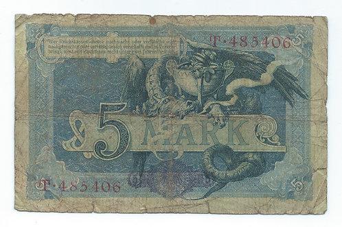 Germany - 5 Mark - 1904