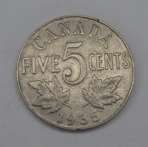Canada - 5 Cents - 1935