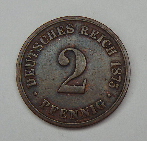 Germany - 2 Pfennig - 1875-B