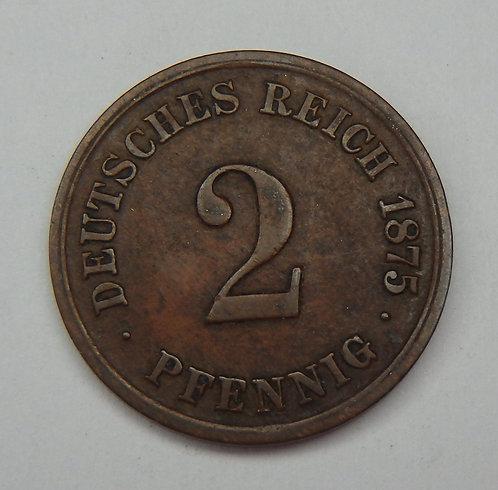 Germany - 2 Pfennig - 1875-G