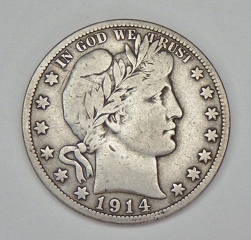 1914-S Barber Half Dollar