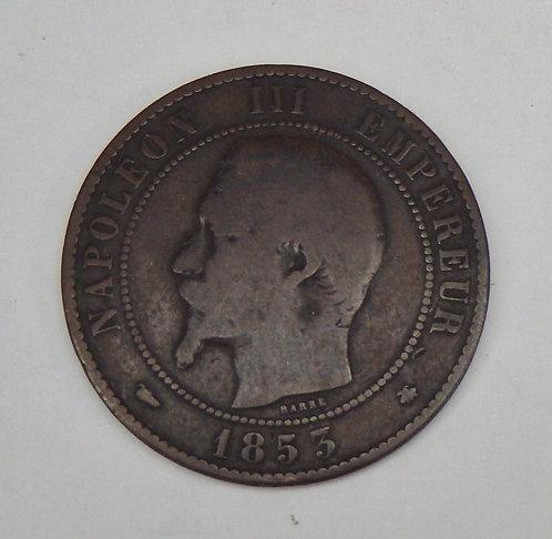 France - 10 Centimes - 1853