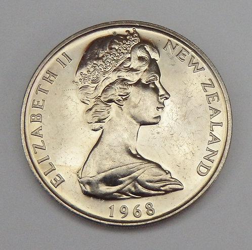 New Zealand - 20 Cents - 1968