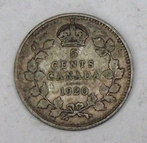 Canada - 5 Cents - 1920