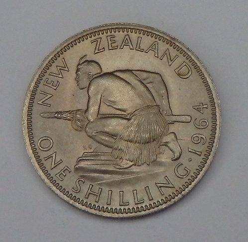 New Zealand - Shilling - 1964