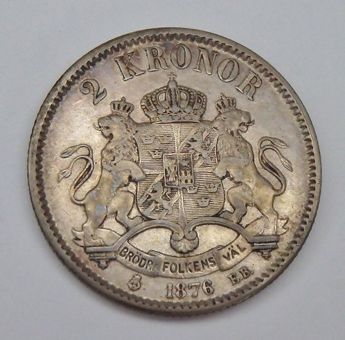 Sweden - 2 Kronor - 1876EB