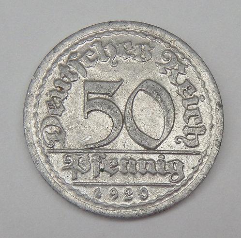 Germany - 50 Pfennig - 1920-G