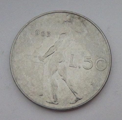 Italy - 50 Lire - 1963R