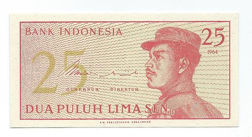 Indonesia - 25 Sen - 1964