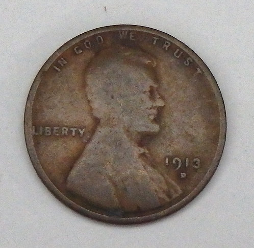 1913-D Wheat Cent