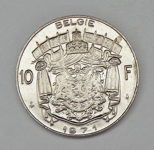 Belgium - 10 Francs - 1971