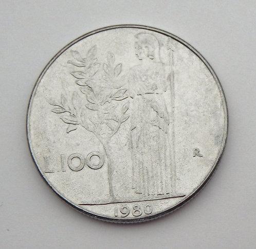 Italy - 100 Lire - 1980-R