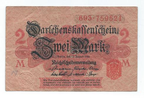 Germany - 2 Mark - 1914
