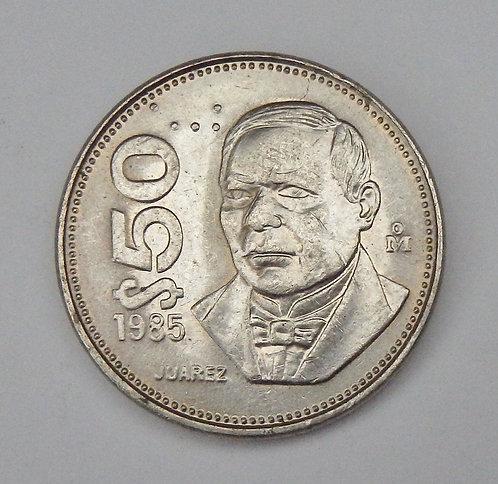 Mexico - 50 Pesos - 1985Mo