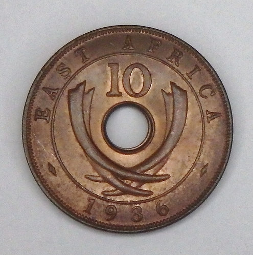 East Africa - 10 Cents - 1936KN