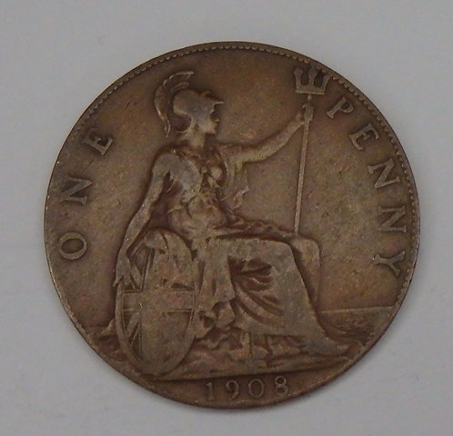 Great Britain - Penny - 1908