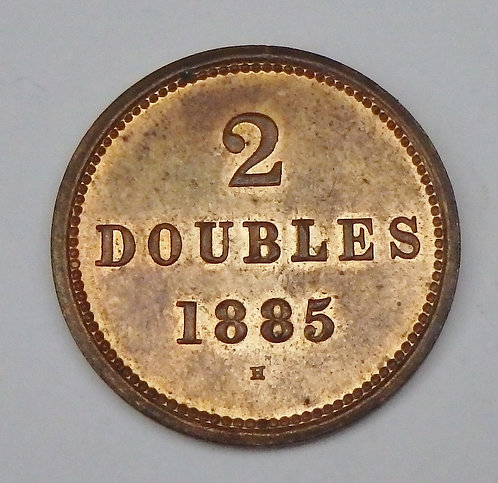 Guernsey - 2 Doubles - 1885-H