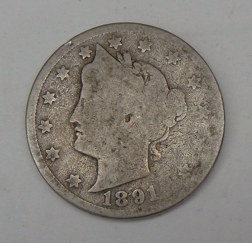 1891 Liberty V Nickel