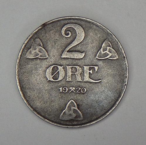 Norway - 2 Ore - 1920