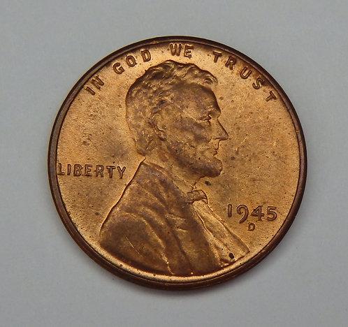 1945-D Wheat Cent