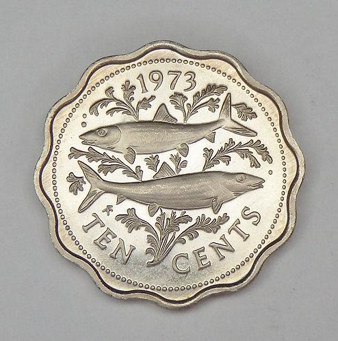Bahamas - 10 Cents - 1973