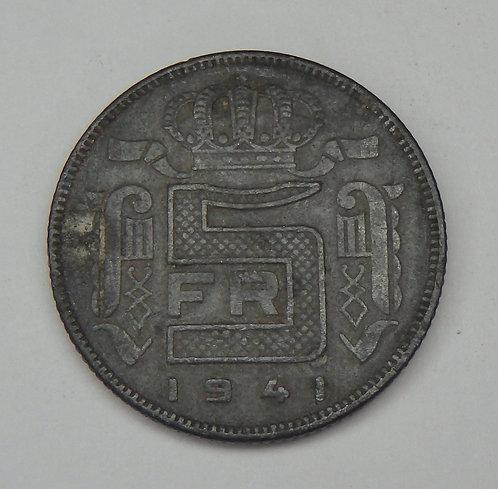 Belgium - 5 Francs - 1941