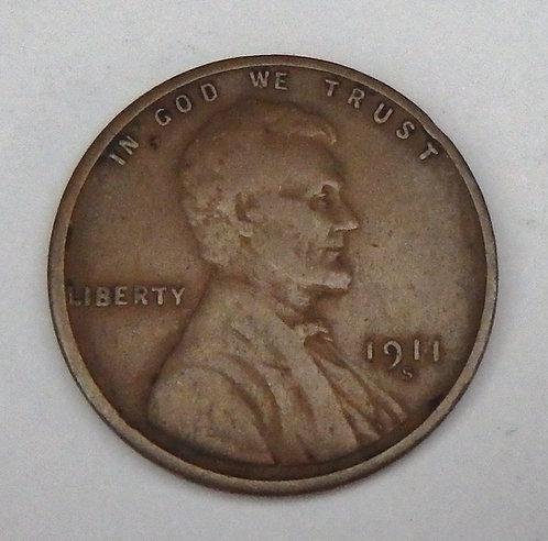1911-S Wheat Cent