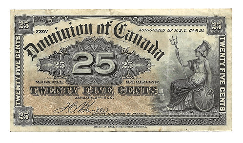 Canada - 25 Cent Note - 1900