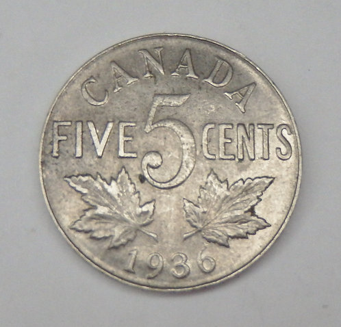 Canada - 5 Cents - 1936