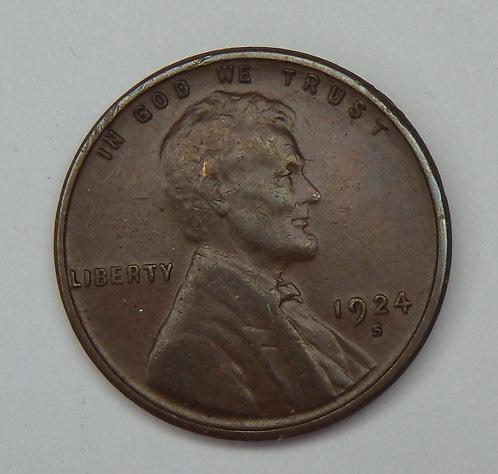 1924-S Wheat Cent