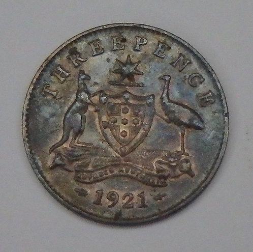 Australia - 3 Pence - 1921-M