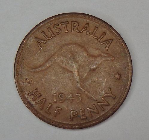 Australia - Half Penny - 1943