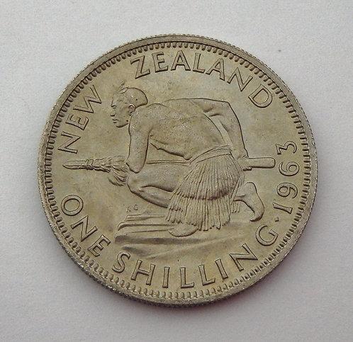 New Zealand - Shilling - 1963