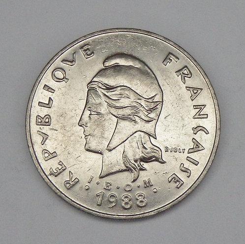 French Polynesia - 50 Francs - 1988