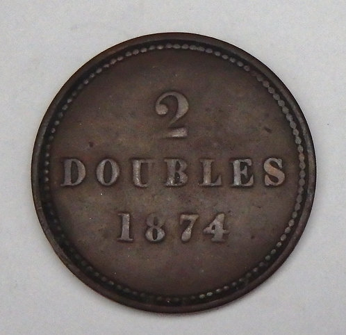 Guernsey - 2 Doubles - 1874