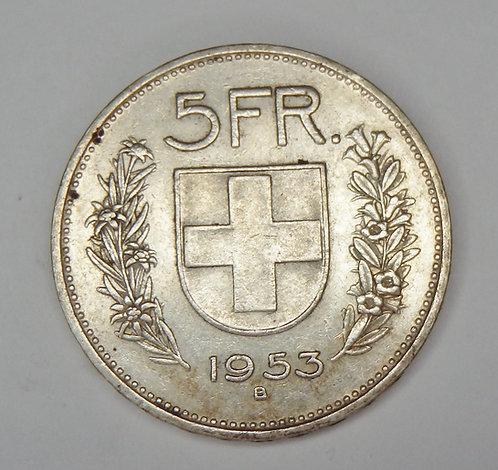 Switzerland - 5 Francs - 1953-B