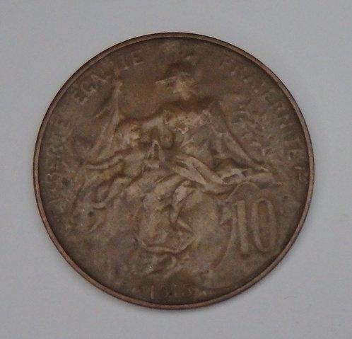 France - 10 Centimes - 1915