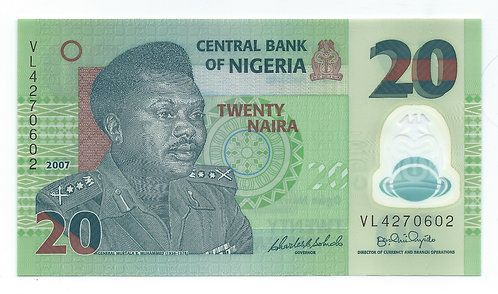 Nigeria - 20 Naira - 2007
