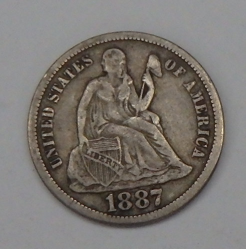 1887-S Seated Liberty Dime