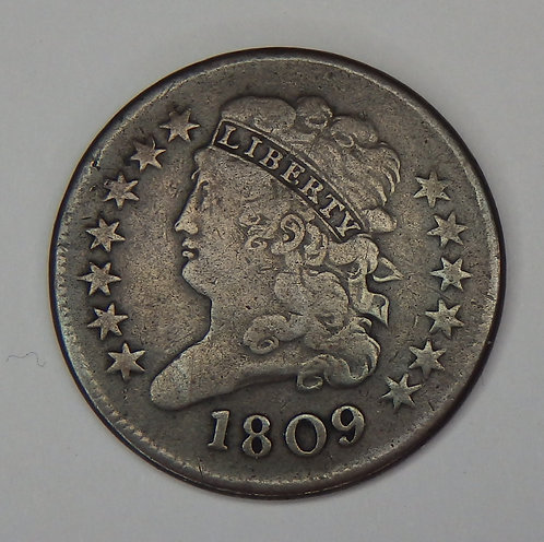 1809 Classic Head Half Cent