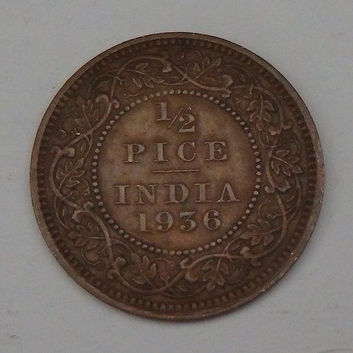 India - Half Pice - 1936