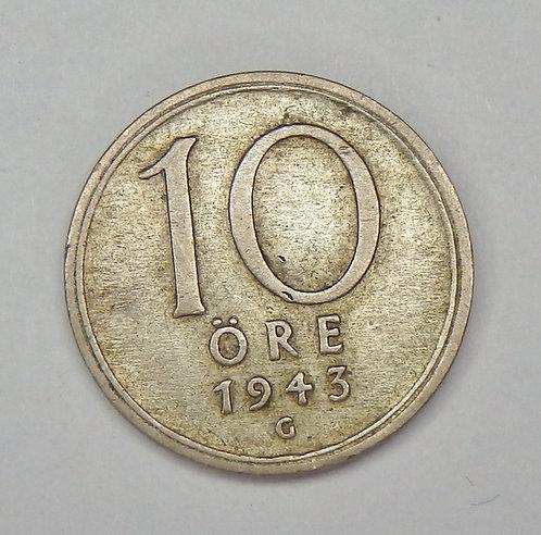 Sweden - 10 Ore - 1945-G