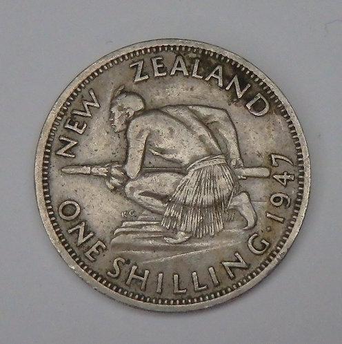 New Zealand - Shilling - 1947